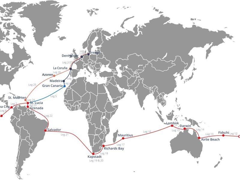 World-ARC: Insel Lombok (Indones.) > Port Louis (Mauritius ...
